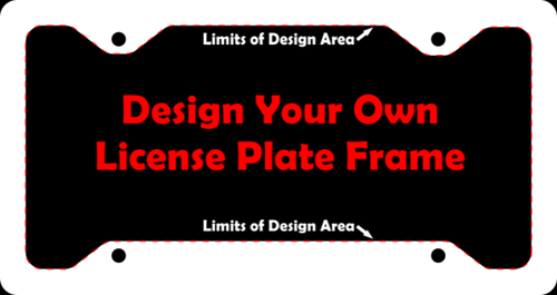 Custom Novelty - personalized custom aluminum license plate frame